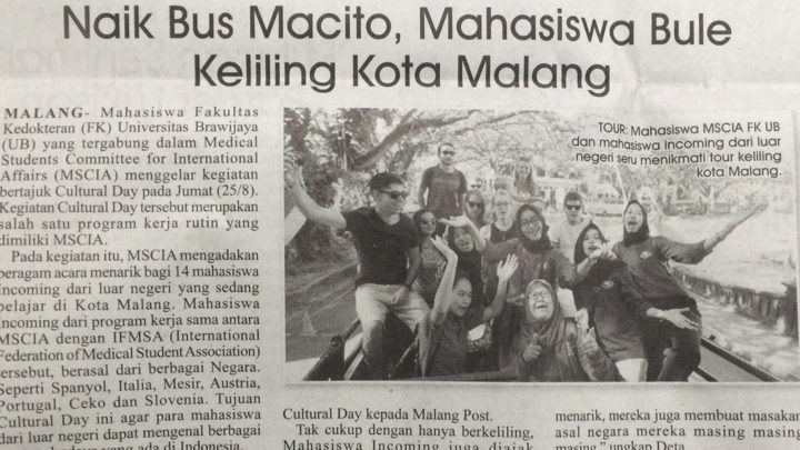 SCOPE Activity Published on Malang Post