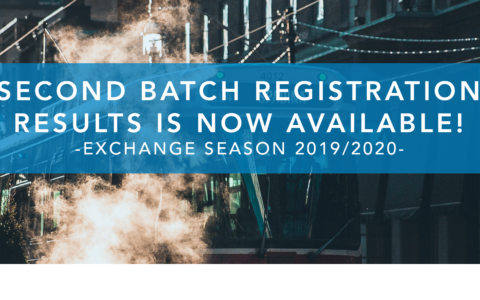 Second Batch Registration Results! Exchange Season 2019/2020